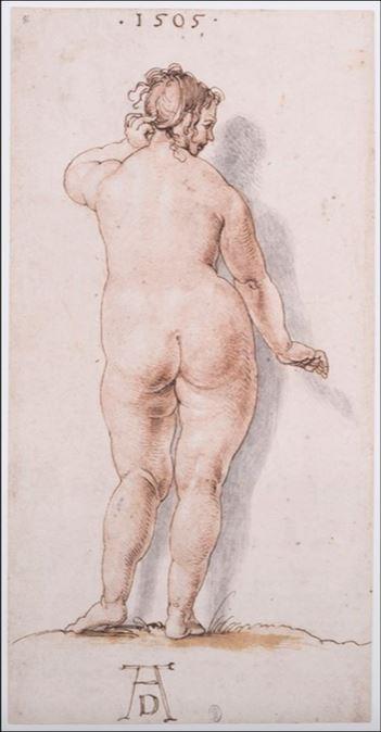 Albrecht Dürer, Weiblicher Rückenakt